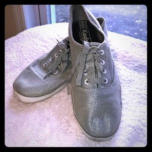 Keds Silver Shimmer Sparkle Ribbon Laces 8.5